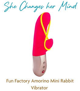Most Versatile Rabbit Vibrator - Fun Factory Amorino Mini Rabbit Vibrator