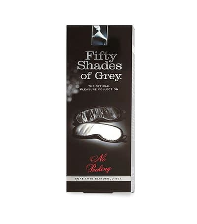 Fifty Shades No Peeking Soft Blindfold Twin Pack