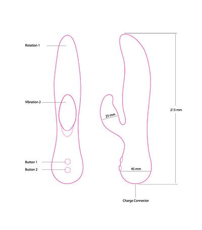 The Royal Swan Rotating Rabbit Vibrator