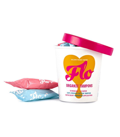Flo Organic Tampons with Applicator   Applicator for tampons