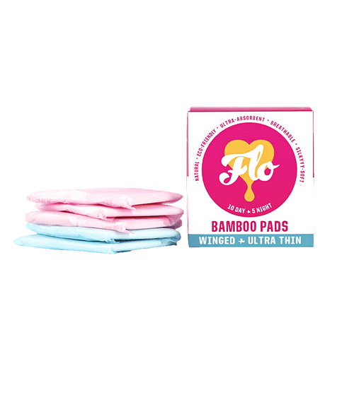 Flo Bamboo Pads Winged and Ultra-Thin