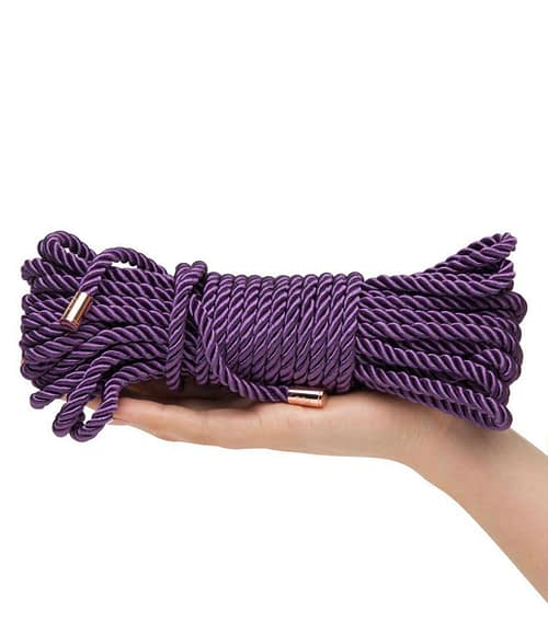 Purple Triple Twisted Rope Fifty Shades Freed 10m Silk Rope
